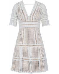 Catherine Deane - Inna Laser-cut Cotton Mini Dress - Lyst