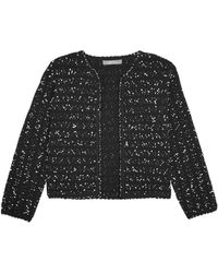 Lela Rose - Textured Open Front Jacket - Lyst