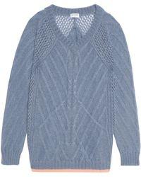 Vionnet - Mohair-blend Cable-knit Sweater - Lyst