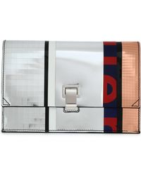 Proenza Schouler - Paneled Mirrored Leather Clutch - Lyst