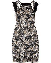 Badgley Mischka - Brocade Dress - Lyst