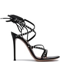 Gianvito Rossi - Lace-up Studded Leather Sandals - Lyst
