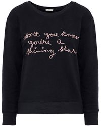 Joie - Rikke B Embroidered French Cotton-terry Sweatshirt - Lyst