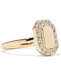 Elizabeth and James Torrens Gold-tone Crystal Pinky Ring