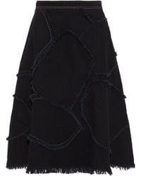 Sonia Rykiel - Frayed Patchwork Denim Skirt - Lyst