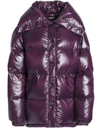 Nina Ricci - Quilted Coated-shell Down Coat Dark Purple - Lyst