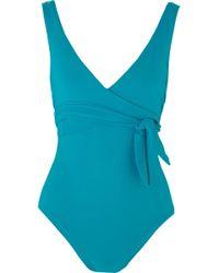 Karla Colletto - Prima Wrap-effect Swimsuit - Lyst