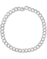 Kenneth Jay Lane - Silver-tone Crystal Necklace - Lyst