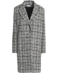 Lanvin - Checked Bouclé-tweed Coat - Lyst