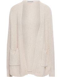 Autumn Cashmere - Woman Cotton Cardigan Beige - Lyst