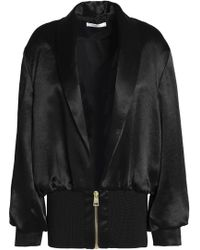 Lanvin - Gathered Satin Jacket - Lyst