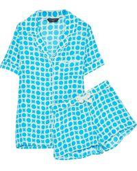 Three J Nyc - Belle Printed Silk Pajama Set - Lyst
