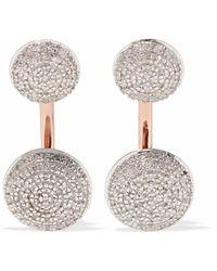 Monica Vinader - Woman Stellar Rose Gold-plated Diamond Earrings Rose Gold - Lyst