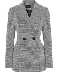 W118 by Walter Baker - Suzette Double-breasted Checked Woven Blazer - Lyst