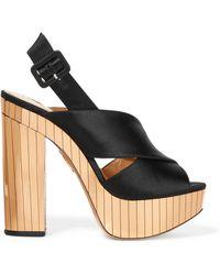 Charlotte Olympia - Electra Satin Platform Sandals - Lyst