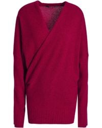 Haider Ackermann - Crossover Wool And Cashmere-blend Sweater - Lyst