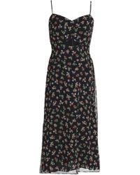 Bailey 44 - Cutout Floral-print Chiffon Midi Dress - Lyst