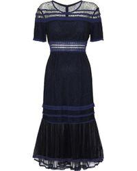 Jonathan Simkhai - Tulle-paneled Corded Lace Dress - Lyst