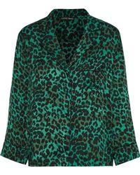 Love Stories - Jude Leopard-print Sateen Pajama Top - Lyst
