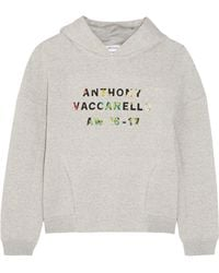 Anthony Vaccarello - Appliquéd Cotton-blend Jersey Hooded Top - Lyst