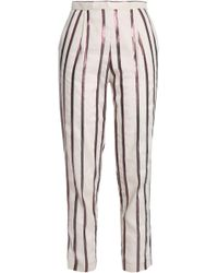 Day Birger et Mikkelsen - Metallic Striped Canvas Tapered Trousers - Lyst