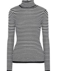 Soft Joie - Zelene Striped Knitted Turtleneck Top - Lyst