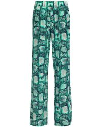 ViX - Printed Silk Wide-leg Trousers - Lyst