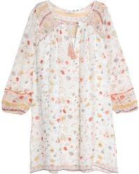 Joie - Printed Silk-crepe Mini Dress - Lyst