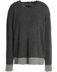 RTA - Metallic-trimmed Cashmere Sweater - Lyst