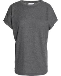 Duffy - Ribbed Stretch-jersey T-shirt Dark Grey - Lyst