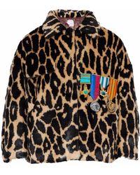 Stella Jean - Appliquéd Leopard-print Faux Fur Jacket - Lyst