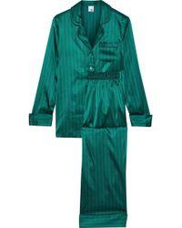 Iris & Ink - Mairead Striped Stretch-silk Satin Pyjama Set - Lyst