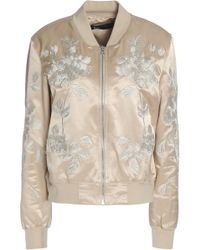 3x1 - Embroidered Cotton-blend Satin Bomber Jacket - Lyst