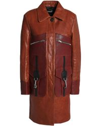 COACH - Leather Coat - Lyst