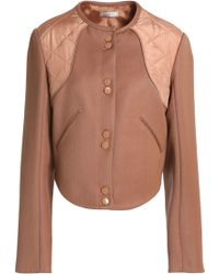 Nina Ricci - Quilted Shell-paneled Wool-twill Jacket - Lyst