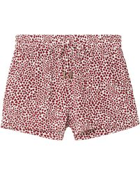 Anine Bing - Ashley Printed Washed-silk Pyjama Shorts Red - Lyst