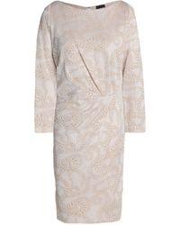 Just Cavalli - Wrap-effect Metallic Jacquard Mini Dress - Lyst