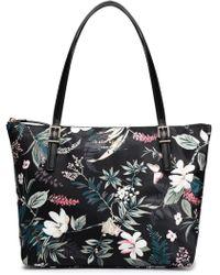 Kate Spade Watson Lane Maya Floral-print Shell Tote Black