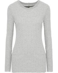 Enza Costa - Ribbed Cotton And Cashmere-blend Top - Lyst