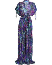 Matthew Williamson - Floral-print Silk-chiffon Wide-leg Jumpsuit - Lyst