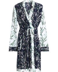 Equipment - Printed Washed-silk Wrap Dress - Lyst