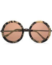 Sunday Somewhere - Isabella Round-frame Acetate And Rose Gold-tone Sunglasses - Lyst