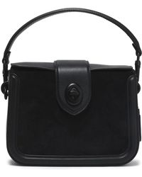 COACH - Leather And Suede Shoulder Bag - Lyst