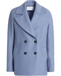 Harris Wharf London - Oversized Double-breasted Boiled Wool Coat - Lyst