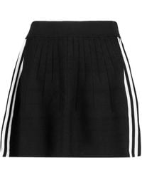 adidas Originals - Striped Stretch Ribbed-knit Mini Skirt - Lyst