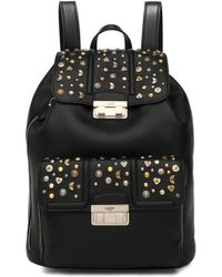 Lanvin - Jiji Studded Textured-leather Backpack - Lyst