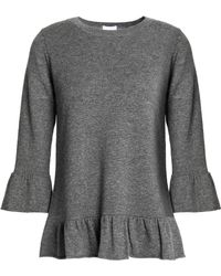 Madeleine Thompson - Mélange Wool And Cashmere-blend Peplum Top - Lyst