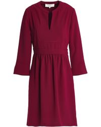 Vanessa Bruno Athé - Woman Gathered Crepe Dress Plum - Lyst