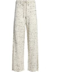 157f58963674b Pringle of Scotland - Woman Marled Wool-blend Wide-leg Trousers Cream - Lyst