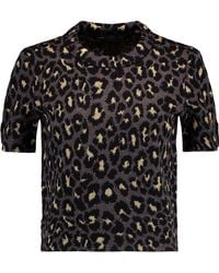 Marc By Marc Jacobs - Metallic Leopard-print Wool-blend Top - Lyst